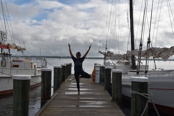 Chesapeake Bay Maritime Museum announces sunset yoga this fall